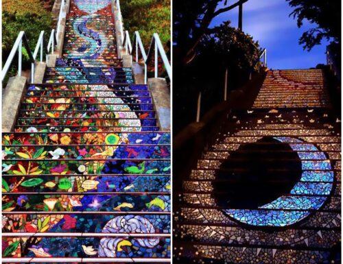 San Francisco: la magia di una scalinata che risplende al chiaro di luna